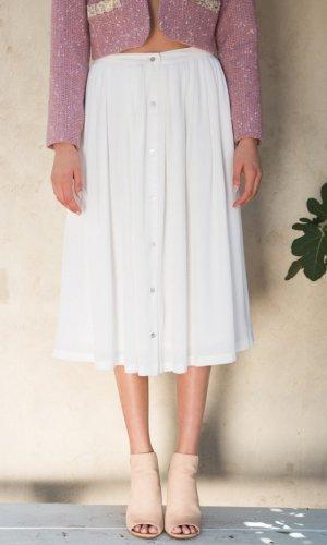 Bianca White Midi Skirt