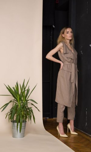 Bown Linen Vest and Trousers Set