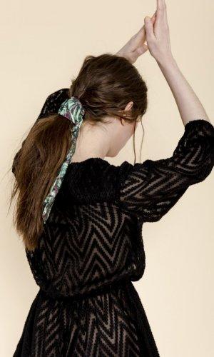 Luana Black Chiffon Playsuit