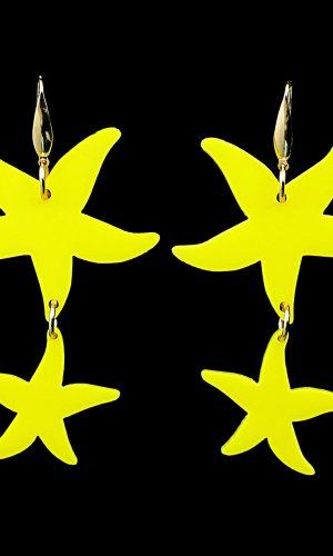 Neon Seastars Statement Earring