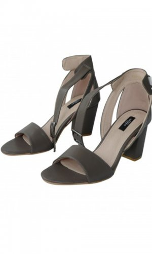 Yolanda Grey Heeled Sandal