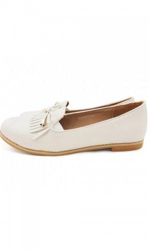 Audrey Cream Fringe Loafer