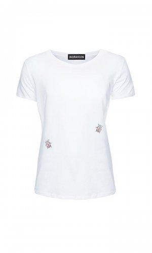 white ladybird organic cotton T-Shirt