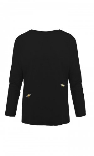 Black Bee Organic Cotton Top