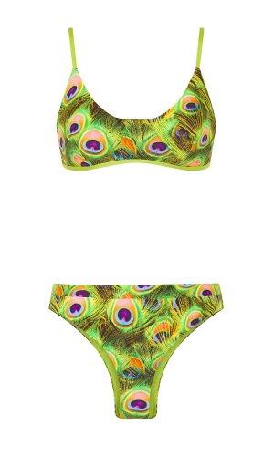 Print bikini top
