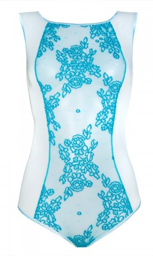 Lace bodysuit front view