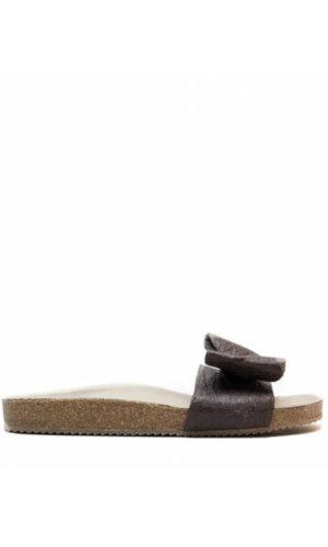 Monik Brown Flat Sandal