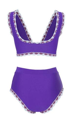 Cyan High Rise Purple Bikini