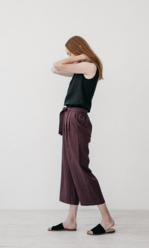 Camilla Burgundy Cropped Pants