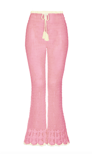 Melody Crochet Trousers Pink