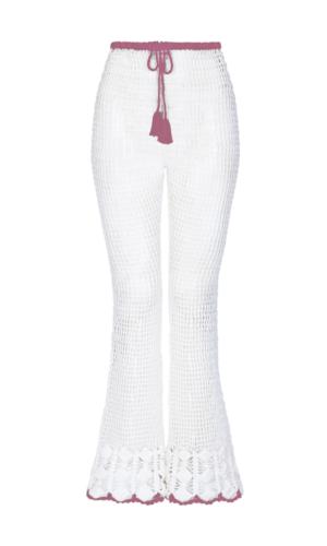 Melody Crochet Trousers Purple