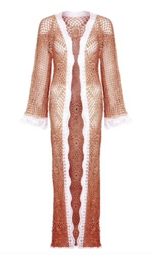 Peach Clover Kimono