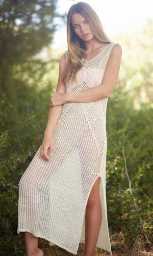 Delilah Crochet Maxi Dress
