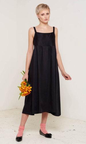 Juliet Black Midi Dress