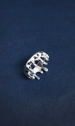 Melting Silver Ring