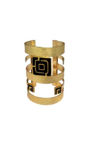 Square Maze Gold Cuff.
