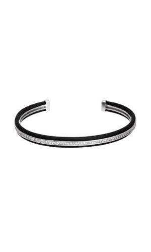 Silver Black Stackable Bracelet