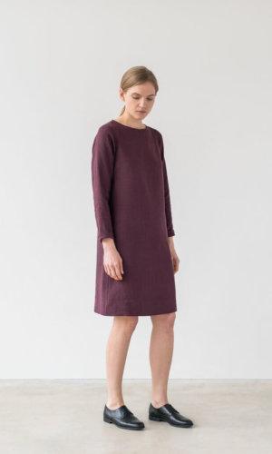 Burgundy Oversized Dress