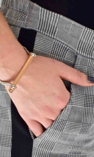 Silver Rosegold XL Screw Cuff