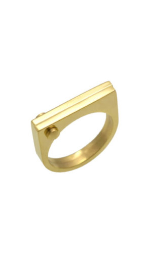 Gold D Ring