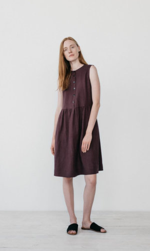 Burgundy Shirt Dress.