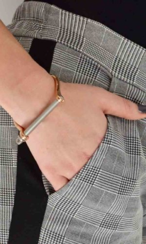 Rosegold Silver XL Screw Cuff