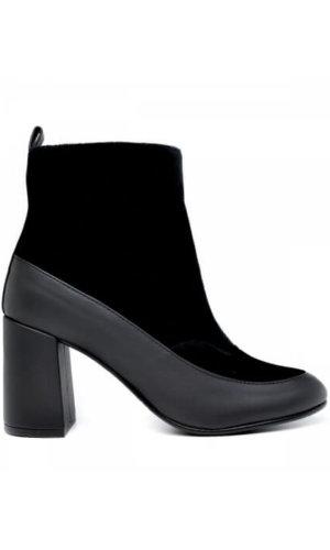 Black Block Heel Ankle Boot