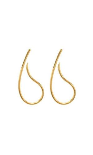 Gold Paisley Earrings
