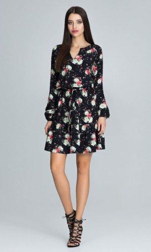 Figl Tie Waist floral mini dress