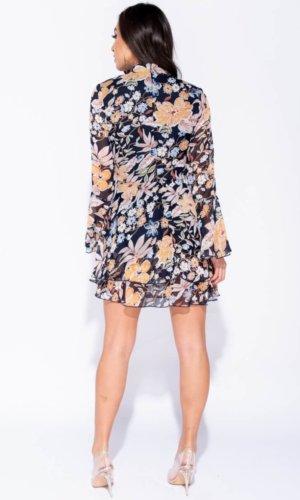 Floral Hem Sleeve Dress