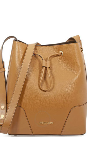 Bucket leather bag
