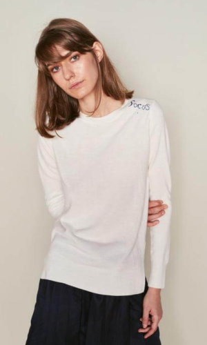 White Long Sleeve Pullover