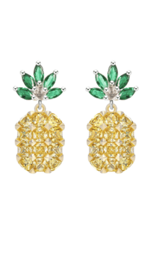 Pineapple Gemstone Earrings