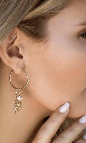 sea charm earrings