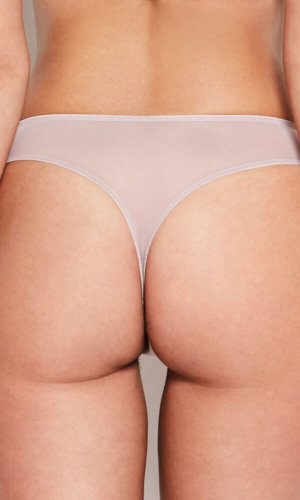 Abbie Pink Lace Thong