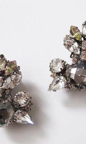 Black Diamond Crystal Earrings.