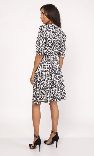 Lanti Leopard Print Wrap Dress