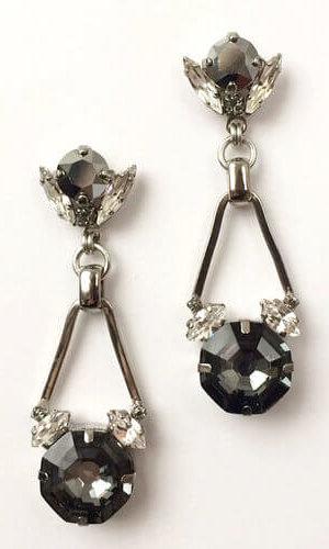 Silver Chrysler Earrings.