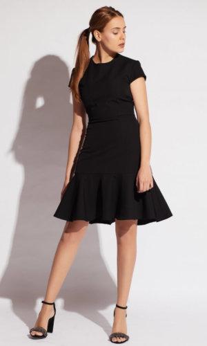 Elastic Crepe Buckled Dress