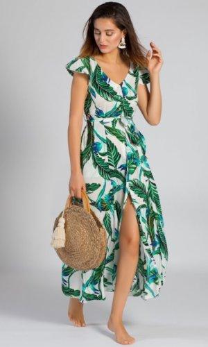 Print Crepe Maxi Dress
