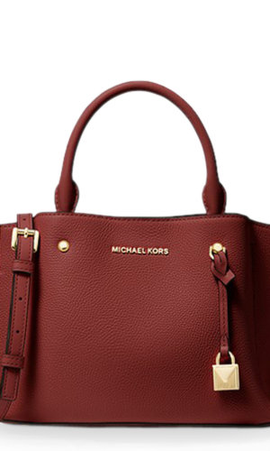 Arielle Small Pebbled Leather Satchel