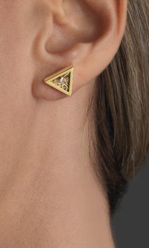 Women's Jewellery Demeter Triangular Gold Earrings