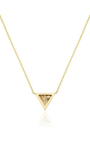 Eros Triangular Pendant Necklace